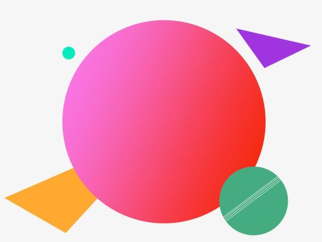 天猫抽象炫彩几何圆素材图片免费下载 高清不规则图形psd 千库网 图