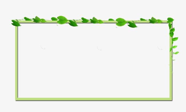 网页个性化清新树叶边框