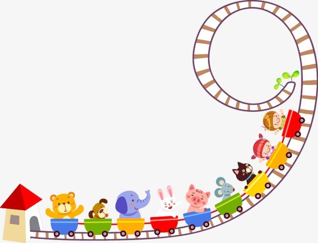 图片 > 【png】 卡通可爱动物过山车  分类: 类目:其他 格式:png 体积