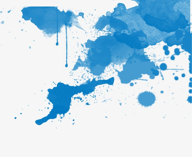 蓝色水彩 泼墨 效果