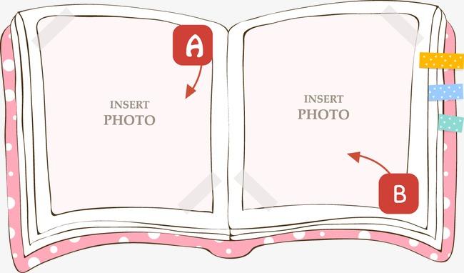 卡通可爱书本边框