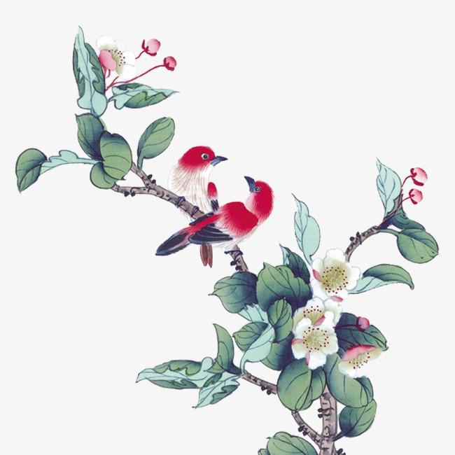 中国画荷叶_中国画png素材-90设计