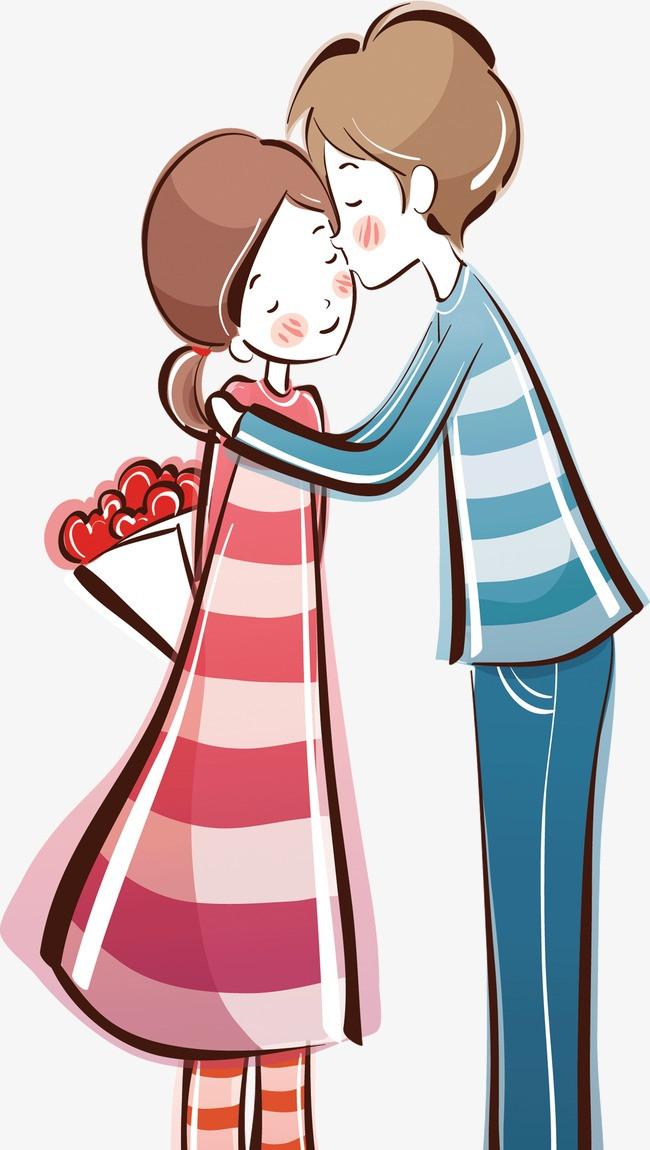 可爱卡通情侣