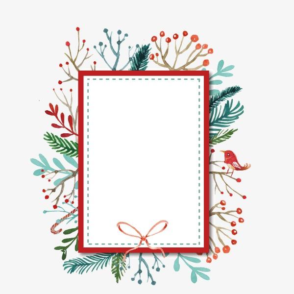 文案背景元素 白色红色边框板 花纹背景