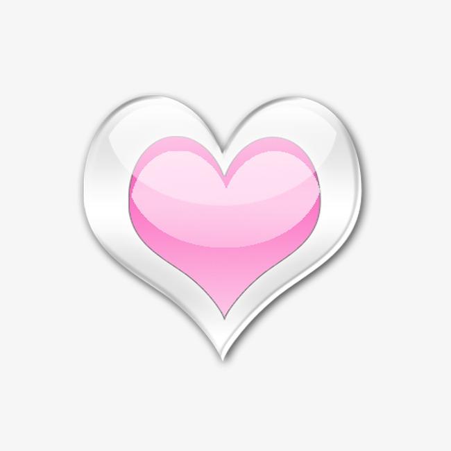 粉色心形png素材-90设计