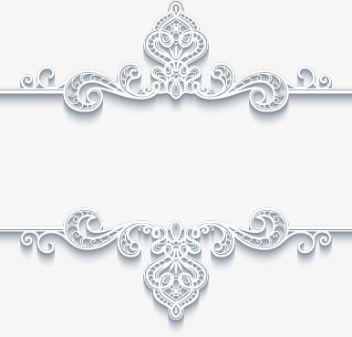 欧式精美立体白色边框花纹(图片编号:15400806)