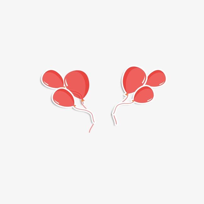 手绘红色气球