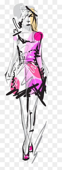 胖子手绘人物三视图