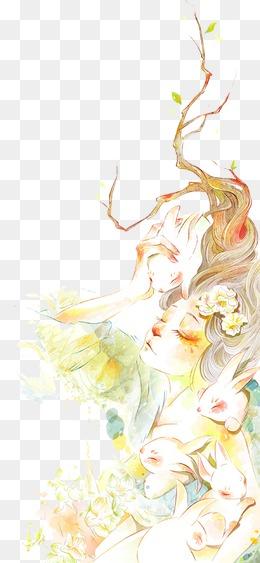 130 60 梦幻卡通花素材 精美礼盒鲜花 571*525 30 33 仙境森林系素材