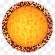 祥云花纹样式月饼