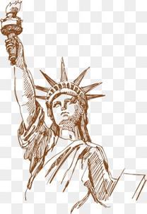 自由女神 手绘 创意海报素材-自由女神素材图片免费下载 高清装饰图案