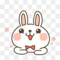 卡通漂浮小兔子