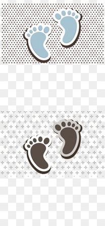 可爱母婴小脚丫矢量图