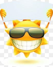 可爱笑脸太阳公公表情矢量素材下载