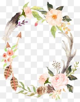 【手绘花环素材】_手绘花环图片素材大全_手绘花环_千