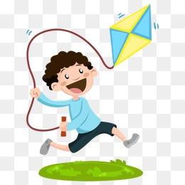 卡通人物 风筝 放风筝图片