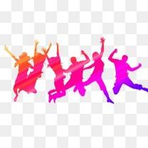 跳舞的青年人  疯狂的人群