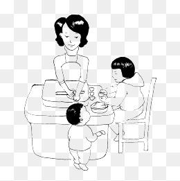 费下载 一家人吃饭图片大全 千库网png 第3页