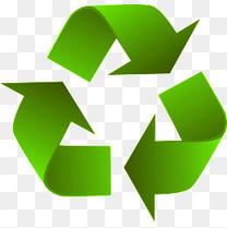 绿色可回收标志