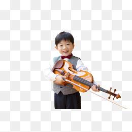 喜小提琴男孩图片