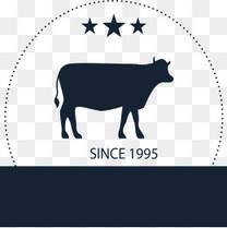 矢量标签牛