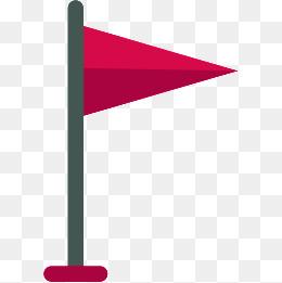三角形红旗图片_【小红旗素材】_小红旗图片大全_小红旗素材免费下载_千库网png