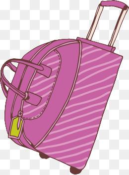 手绘行李箱图片_手绘行李箱