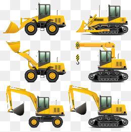挖机动画-挖掘机 推土机 挖掘机图片 卡通