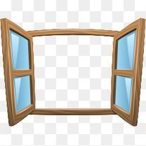 卡通矢量窗户