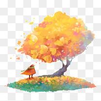 枫树下的人