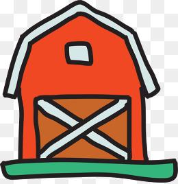 卡通红房子图片