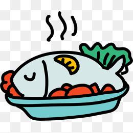 卡通美食鱼