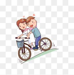 免费下载 卡通情侣骑自行车图片大全 千库网png 第2页图片