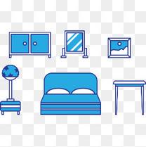 矢量图家具组合