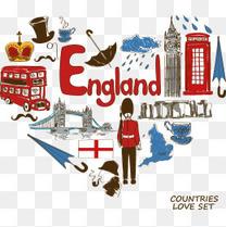 矢量英国旅行素材