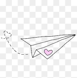 免费下载 纸飞机简笔画图片大全 千库网png