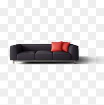 黑色现代沙发
