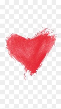 水彩红色爱心