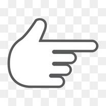 手指手势手互动是 的滚动刷卡交互式手势包