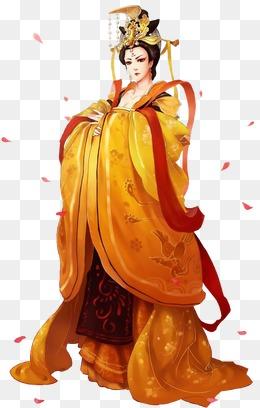 威严的女帝古风手绘