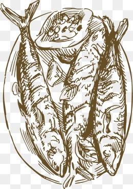 鱼素描图片大全 鱼素描素材免费下载 千库网png图片