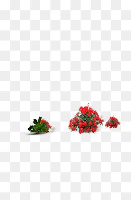手绘桃花图形标志