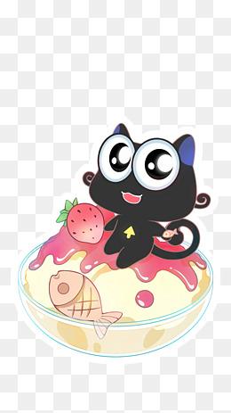 配饰人物 卡通可爱猫咪和鱼 400*400 116 60 猫和鱼 1440*2560 3 0
