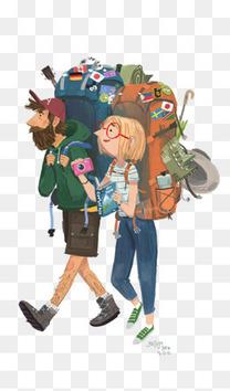 背包客插画