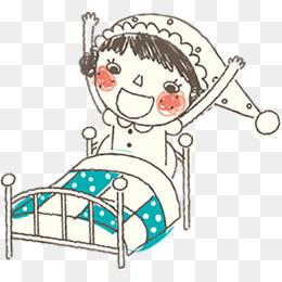 早晨起床少女素材图片免费下载_高清卡通手绘png_千图片