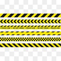 矢量黄色警戒线
