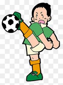 踢足球的卡通小孩素材图片免费下载 高清卡通手绘psd 千库网 图片编号5460904