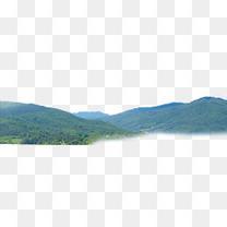 绿色远山景观