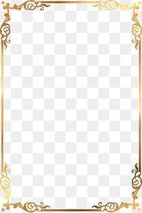 矢量金色花纹边框