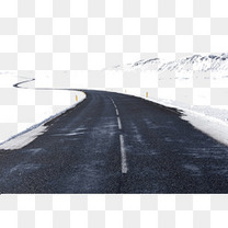 雪山上的马路